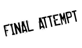 Final Attempt rubber stamp Royalty Free Stock Photos