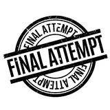 Final Attempt rubber stamp Stock Photos