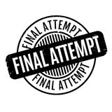 Final Attempt rubber stamp Royalty Free Stock Images