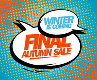 Final autumn sale pop-art design. Royalty Free Stock Photo