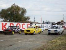 Final av koppen av Ryssland i autocross Royaltyfria Foton