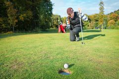 The final blow at golf tournament Royalty Free Stock Photography