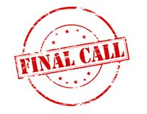 Final call. Rubber stamp with text final call inside,  illustration Stock Image