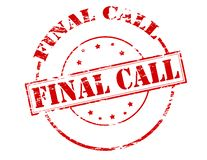 Final call. Rubber stamp with text final call inside,  illustration Royalty Free Stock Photo