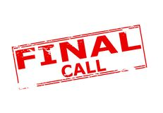 Final call. Rubber stamp with text final call inside,  illustration Royalty Free Stock Photography
