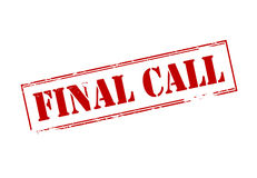 Final call Royalty Free Stock Image