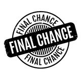 Final Chance rubber stamp. Grunge design with dust scratches. Effects can be easily removed for a clean, crisp look. Color is easily changed stock illustration