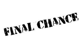 Final Chance rubber stamp. Grunge design with dust scratches. Effects can be easily removed for a clean, crisp look. Color is easily changed Royalty Free Stock Image