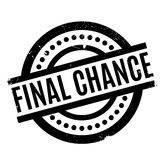 Final Chance rubber stamp. Grunge design with dust scratches. Effects can be easily removed for a clean, crisp look. Color is easily changed Stock Image