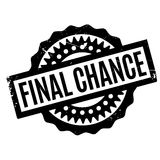 Final Chance rubber stamp. Grunge design with dust scratches. Effects can be easily removed for a clean, crisp look. Color is easily changed Stock Photo