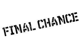 Final Chance rubber stamp. Grunge design with dust scratches. Effects can be easily removed for a clean, crisp look. Color is easily changed Royalty Free Stock Photography
