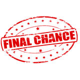 Final chance. Rubber stamp with text final chance inside,  illustration Royalty Free Stock Photos