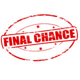Final chance. Rubber stamp with text final chance inside,  illustration Stock Photography