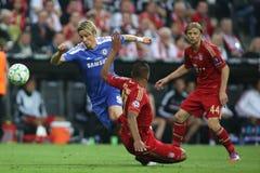 Final Chelsea Training da liga de 2012 campeões Foto de Stock Royalty Free