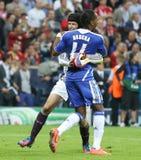 Final Chelsea Training da liga de 2012 campeões Imagens de Stock