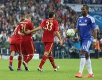 Final Chelsea Training de la liga de 2012 campeones Foto de archivo
