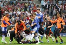 Final Chelsea Training de la liga de 2012 campeones Fotografía de archivo