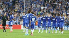 Final Chelsea Training de la liga de 2012 campeones Imagen de archivo libre de regalías