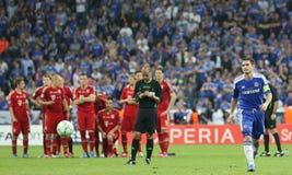 Final Chelsea Training de la liga de 2012 campeones Imagenes de archivo