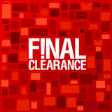 Final clearance background. Royalty Free Stock Photo