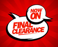 Final clearance design in pop-art style. Royalty Free Stock Image