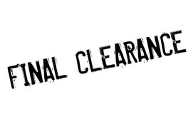 Final Clearance rubber stamp. Grunge design with dust scratches. Effects can be easily removed for a clean, crisp look. Color is easily changed Royalty Free Stock Photos
