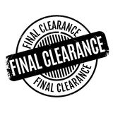 Final Clearance rubber stamp. Grunge design with dust scratches. Effects can be easily removed for a clean, crisp look. Color is easily changed Stock Photography