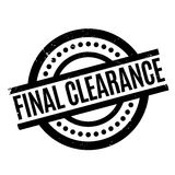 Final Clearance rubber stamp. Grunge design with dust scratches. Effects can be easily removed for a clean, crisp look. Color is easily changed Royalty Free Stock Photography