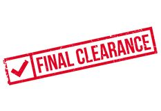 Final Clearance rubber stamp Stock Photos