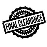 Final Clearance rubber stamp. Grunge design with dust scratches. Effects can be easily removed for a clean, crisp look. Color is easily changed Royalty Free Stock Images
