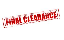 Final clearance. Rubber stamp with text final clearance inside,  illustration Royalty Free Stock Images