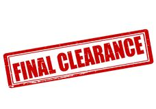 Final clearance. Rubber stamp with text final clearance inside,  illustration Stock Photos