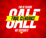 Final clearance sale design. Template Royalty Free Stock Images