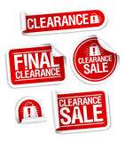 Final clearance sale stickers. Final clearance sale red stickers Royalty Free Stock Images