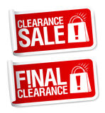 Final clearance sale stickers. Final clearance sale red stickers Royalty Free Stock Photo