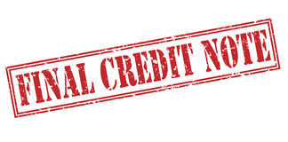 Final credit note red stamp. On white background Stock Photography