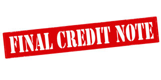 Final credit note Royalty Free Stock Photo