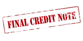 Final credit note Royalty Free Stock Photos
