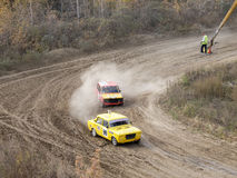 Final of the Cup of Russia in autocross Royalty Free Stock Image