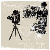 Final cut. Jpeg and vector picture, cinema theme, placard Royalty Free Stock Image