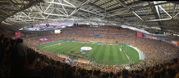 Final da Taça asiático 2015 AUS-KOR Foto de Stock