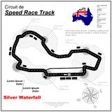 Final dash circuit wallpaper. Speed race circuit map with sample text isolated on white background Royalty Free Stock Image