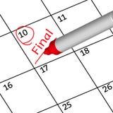 Final days for this month. 3d vector illustrator design calendar Stock Image