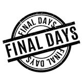 Final Days rubber stamp Stock Images