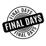 Final Days rubber stamp Royalty Free Stock Photos