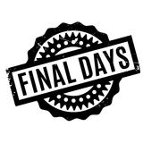Final Days rubber stamp Stock Photos