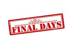 Final days. Rubber stamps with text final days inside,  illustration Royalty Free Stock Photography