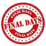 Final days. Stamp with text final days inside,  illustration Stock Images