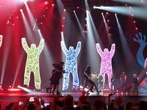 Final de Eurovision 2017 na fase do Exhib internacional Fotos de Stock