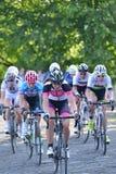 Final de Izumi Tour Series Bicycle Race de la perla en el baño Inglaterra Imágenes de archivo libres de regalías
